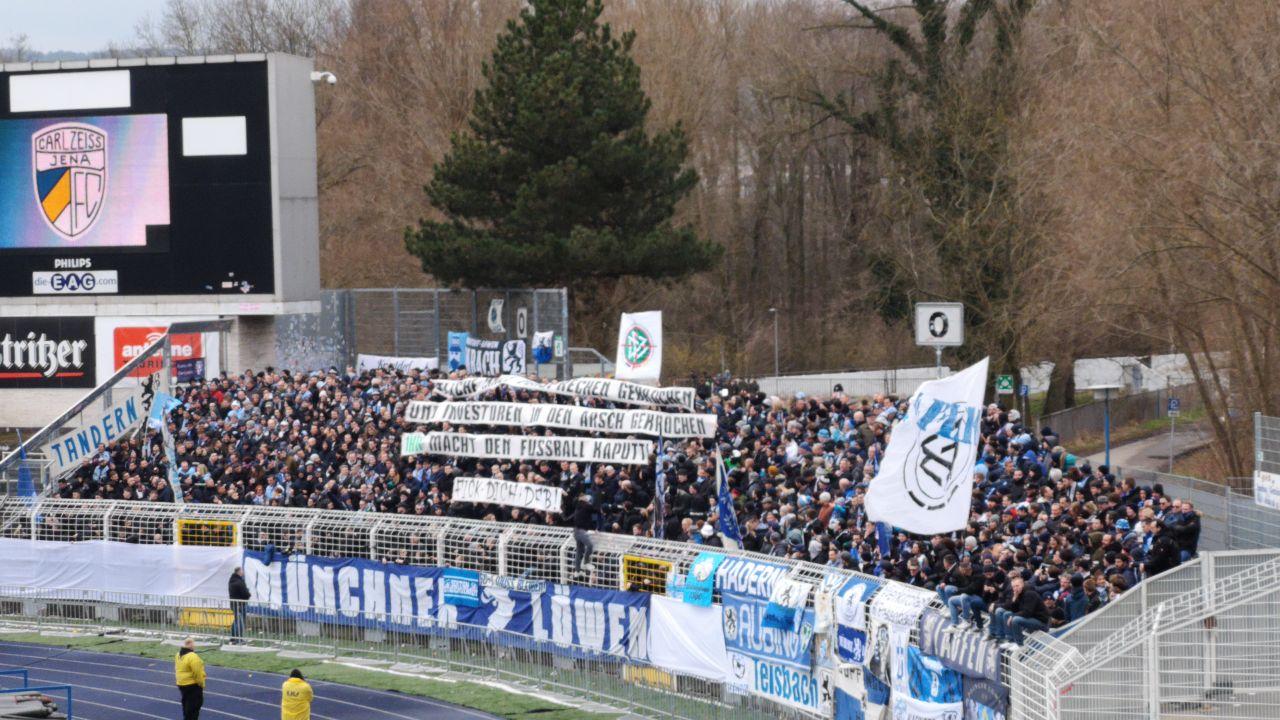 Jena TSV 1860 Spruchband