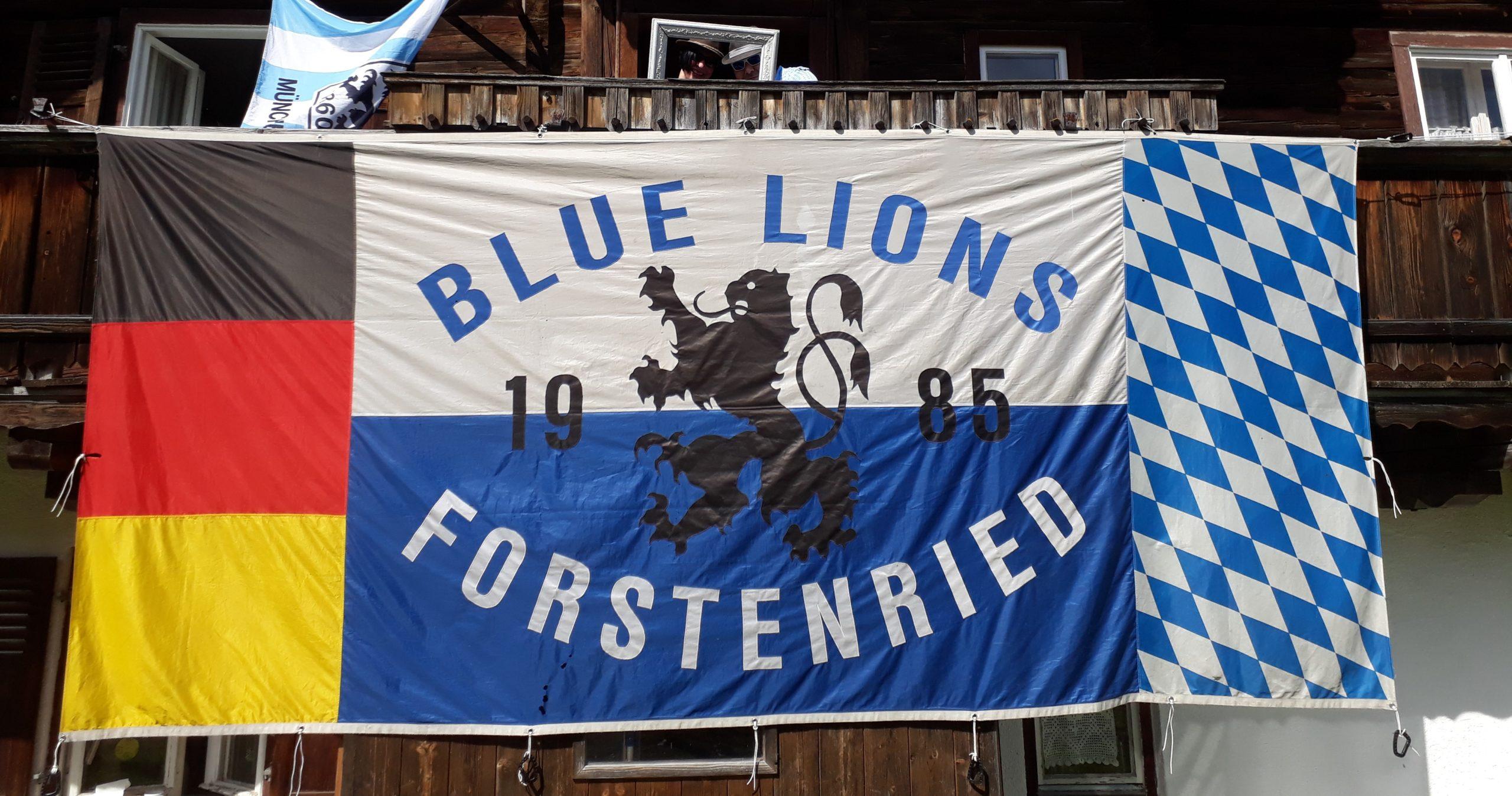 Blue Lions Forstenried Zaunfahne