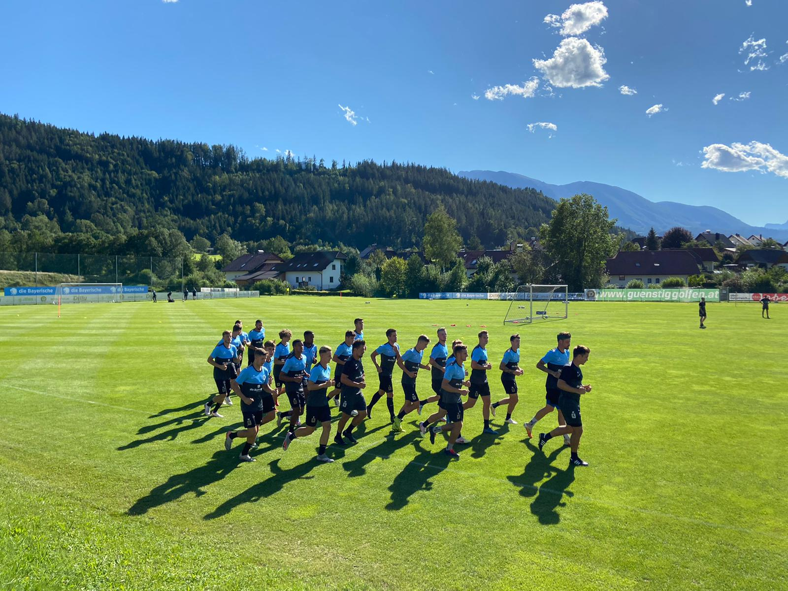 Training TSV 1860 München im Trainingslager Windischgarsten