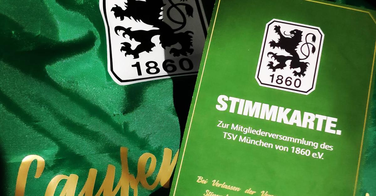 TSV 1860 Mitgliederversammlung Stimmkarte