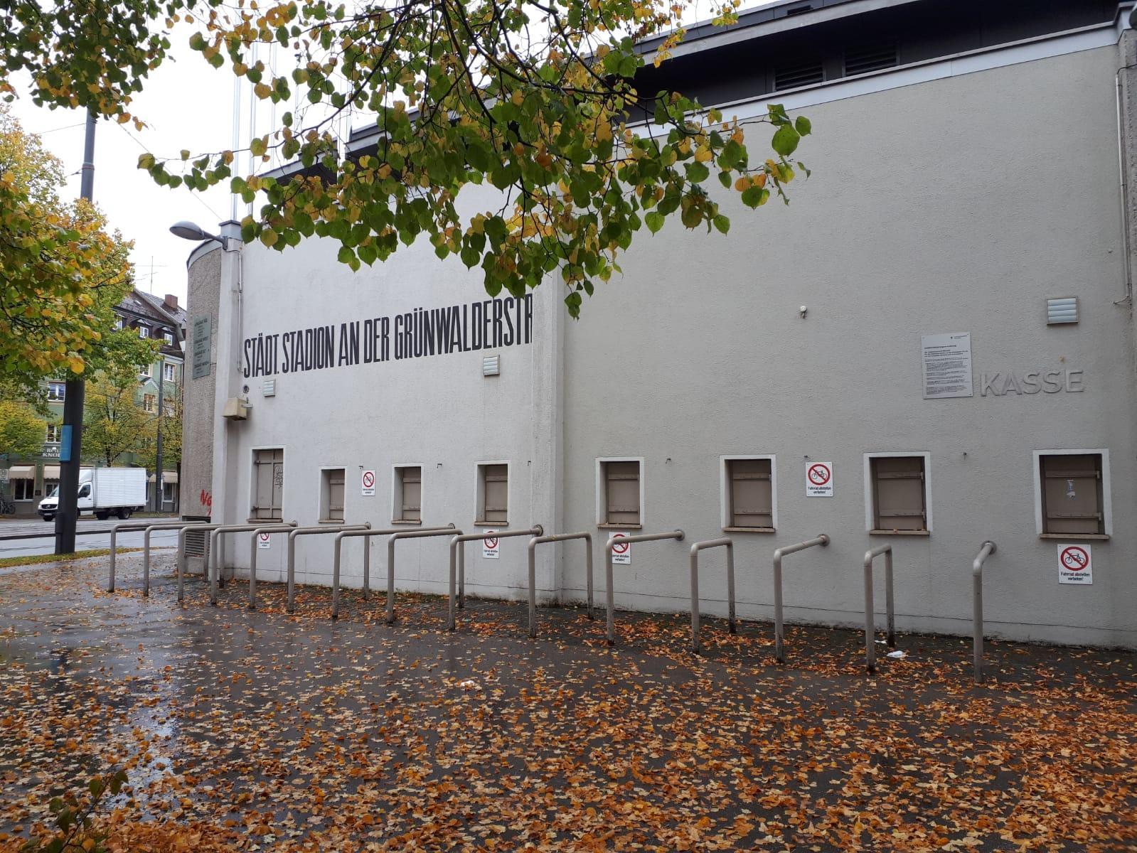 Nochmal schnell ein Foto vom Grünwalder Stadion, Heimat des TSV 1860