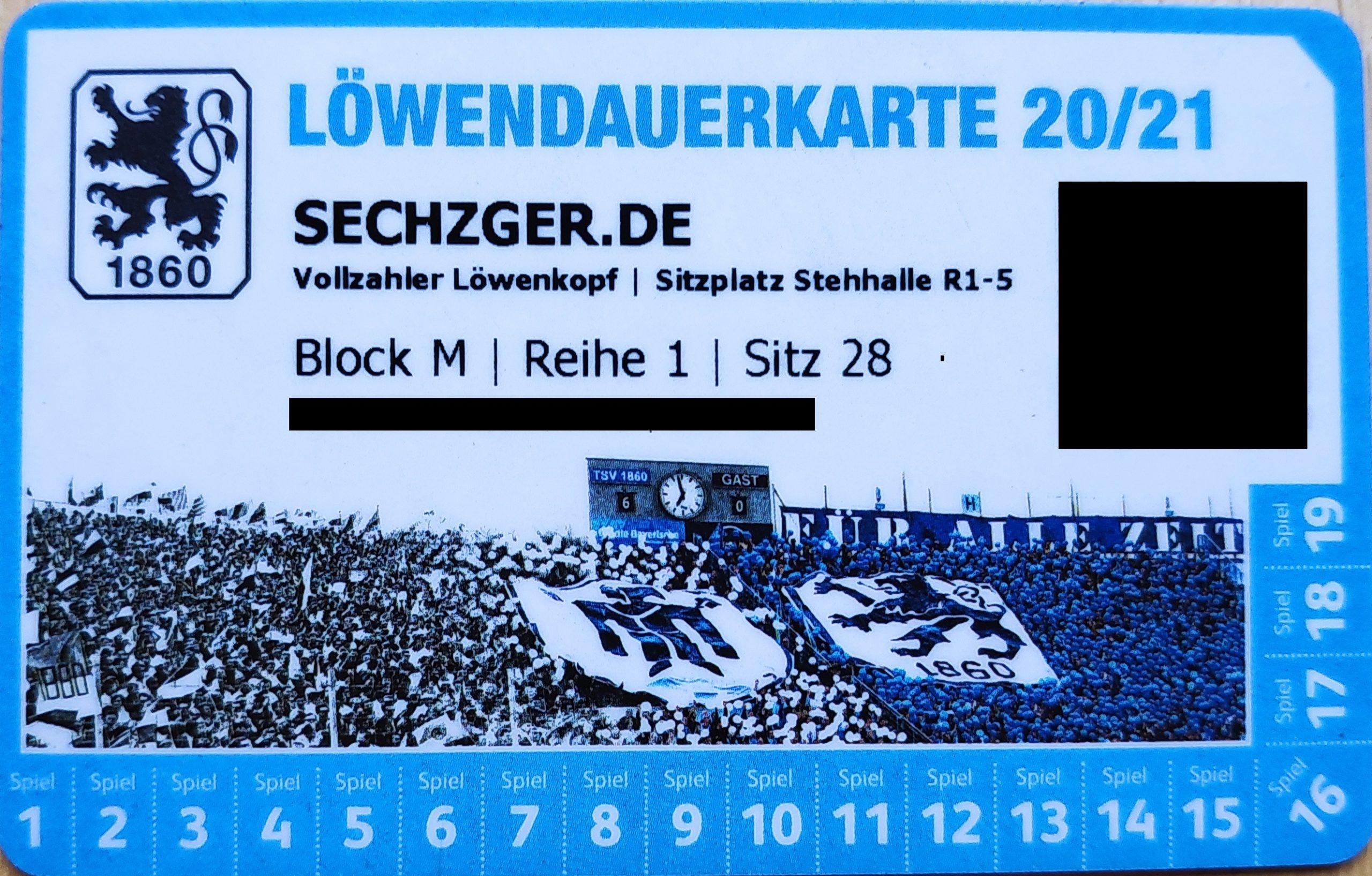 TSV 1860 Dauerkarte