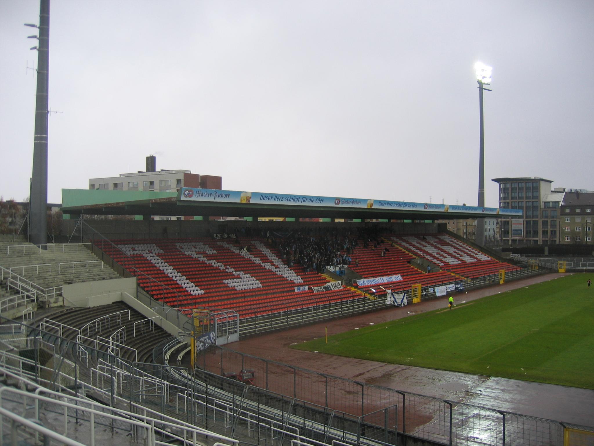 Choreographie im Grünwalder Stadion