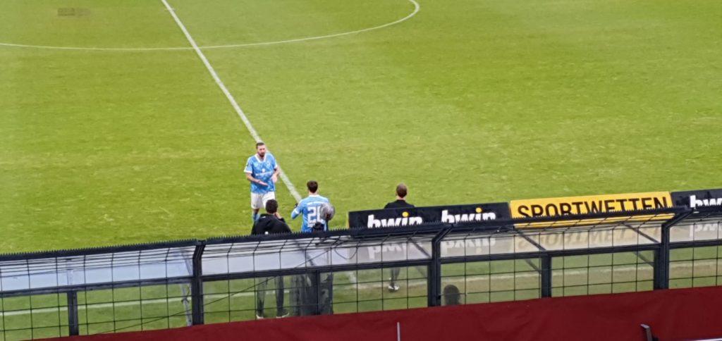 Drittliga-Debüt für Matthew Durrans gegen Waldhof Mannheim
