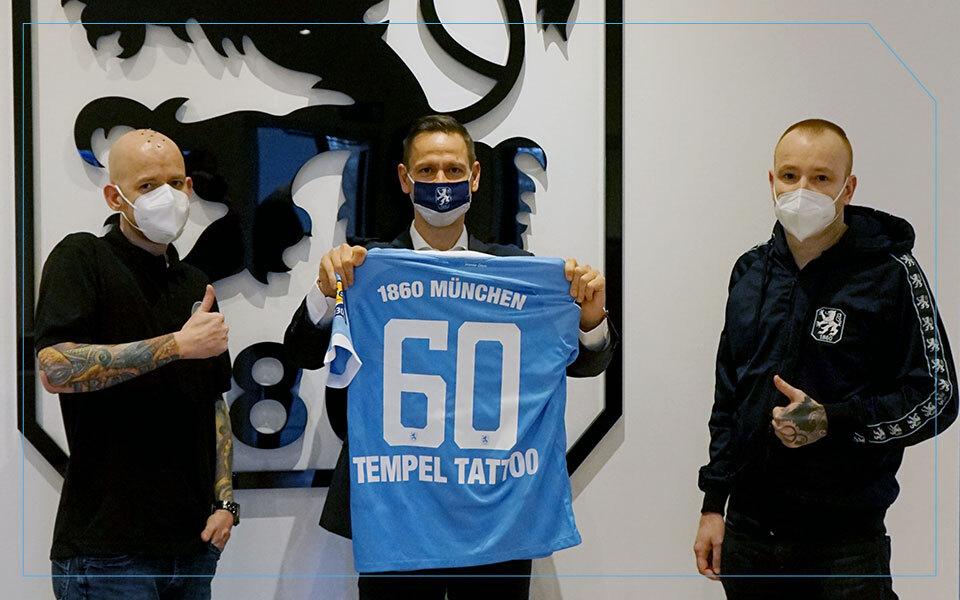 Tattoo Studio Tempel München beim TSV 1860 als Sponsor