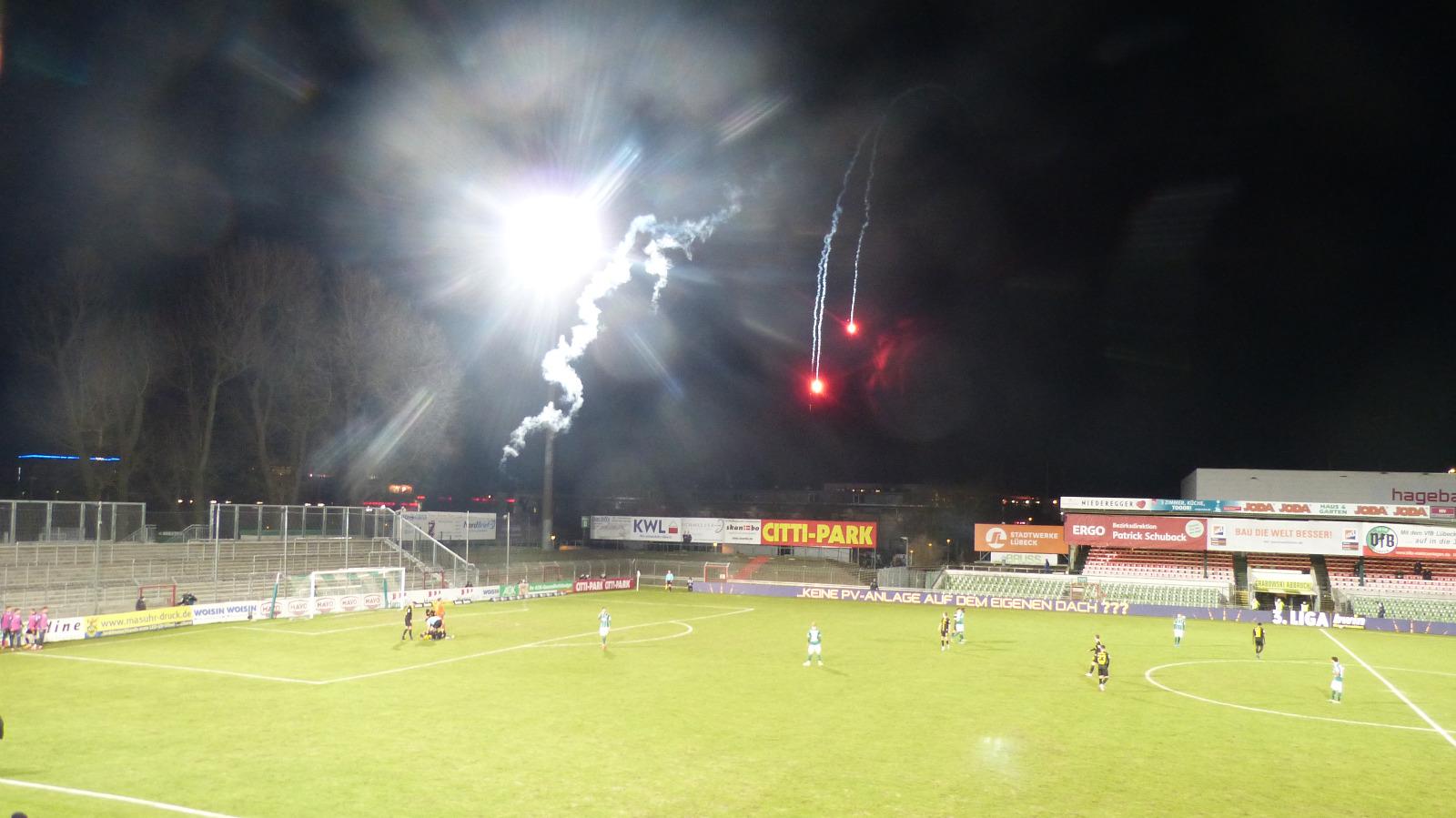 Lübeck TSV 1860 Pyrotechnik