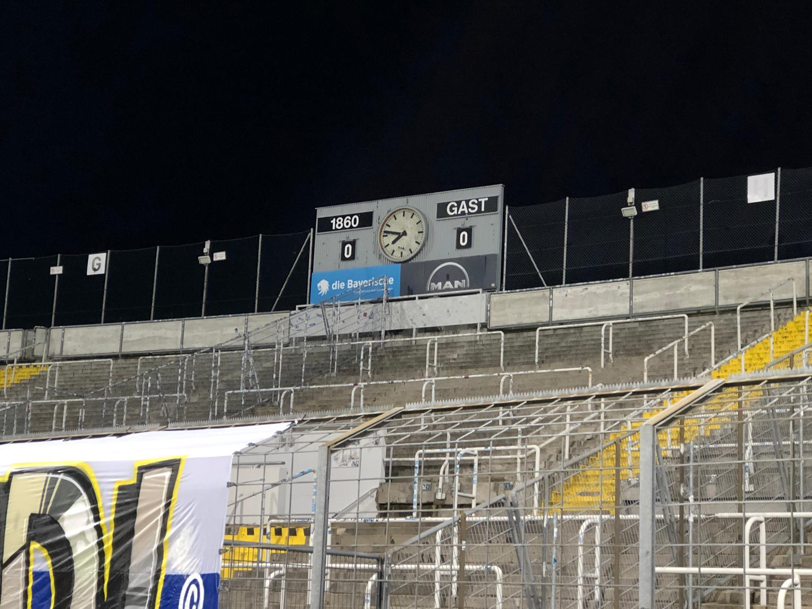 TSV 1860 Dynamo Dresden 0:0 Halbzeitpause