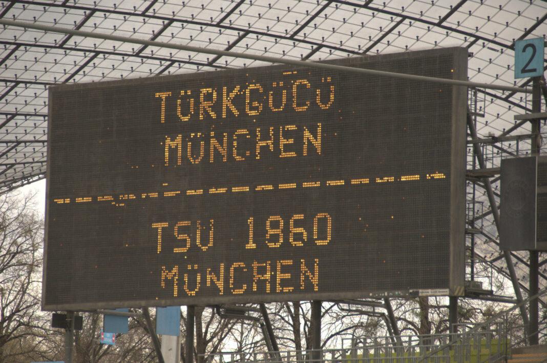 Vor dem Spiel Türkgücü TSV 1860 München Saison 2020/21 3.Liga