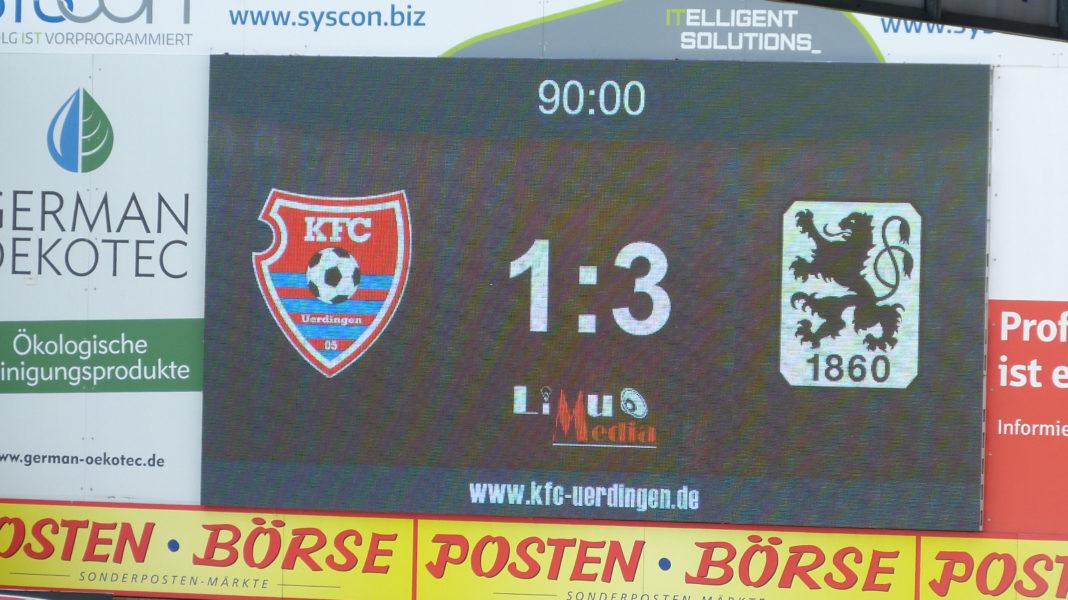 KFC Uerdingen Anzeigetafel Lotte 3.Liga