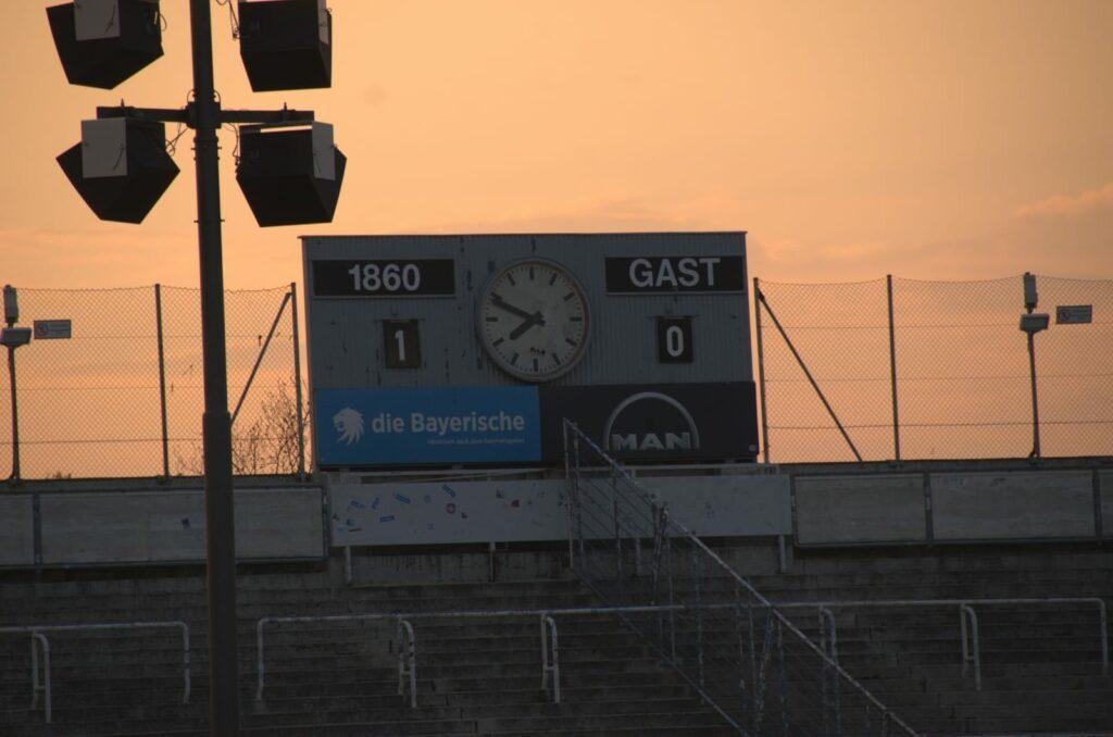 TSV 1860 München Viktoria Köln Halbzeitstand 1:0 33.Spieltag