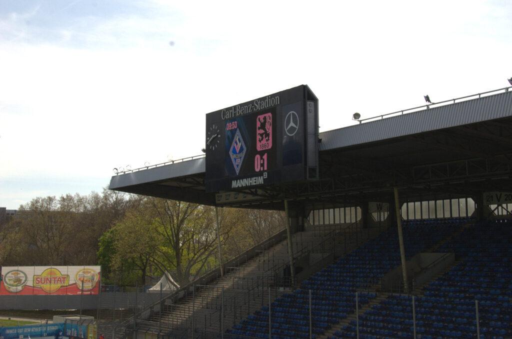 Halbzeitstand Waldhof Mannheim TSV 1860 München 0:1 34.Spieltag