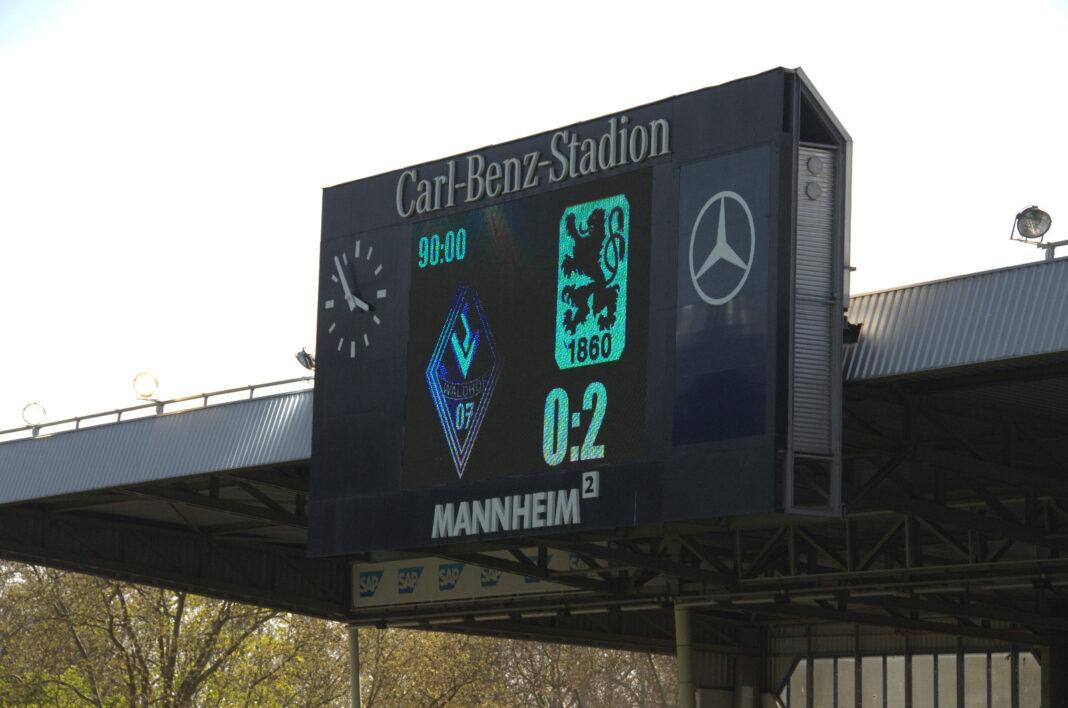Waldhof Mannheim verliert gegen den TSV 1860 München mit 0:2 24.04.2021