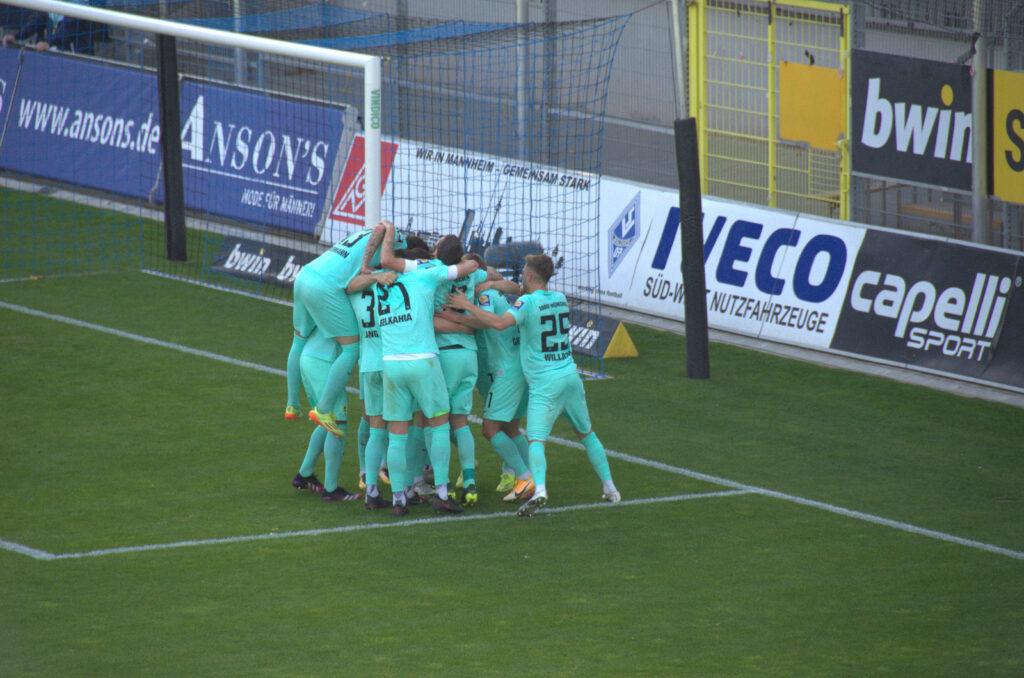 Tor zum 0:2 von 1860 München gegen Mannheim durch Dressel
