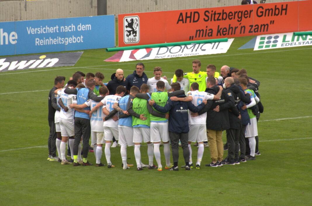 Mannschaftskreis TSV 1860 München nach Duell mit FC Bayern II
