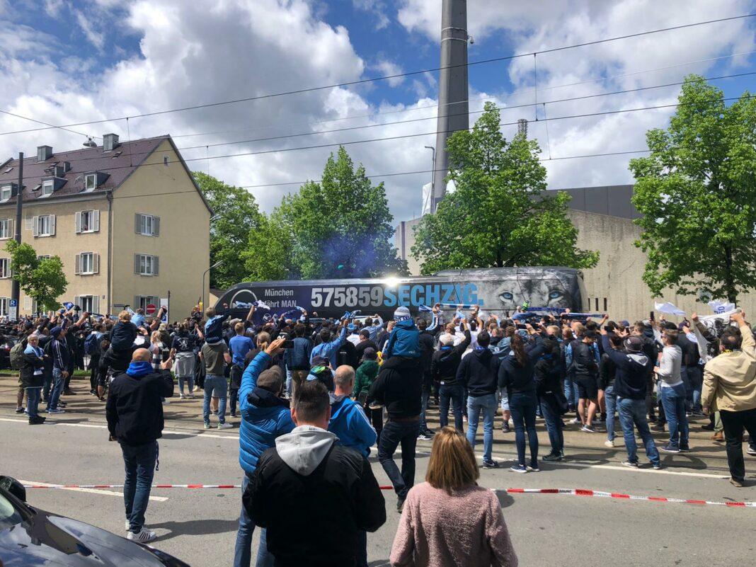 TSV 1860 fans spalier