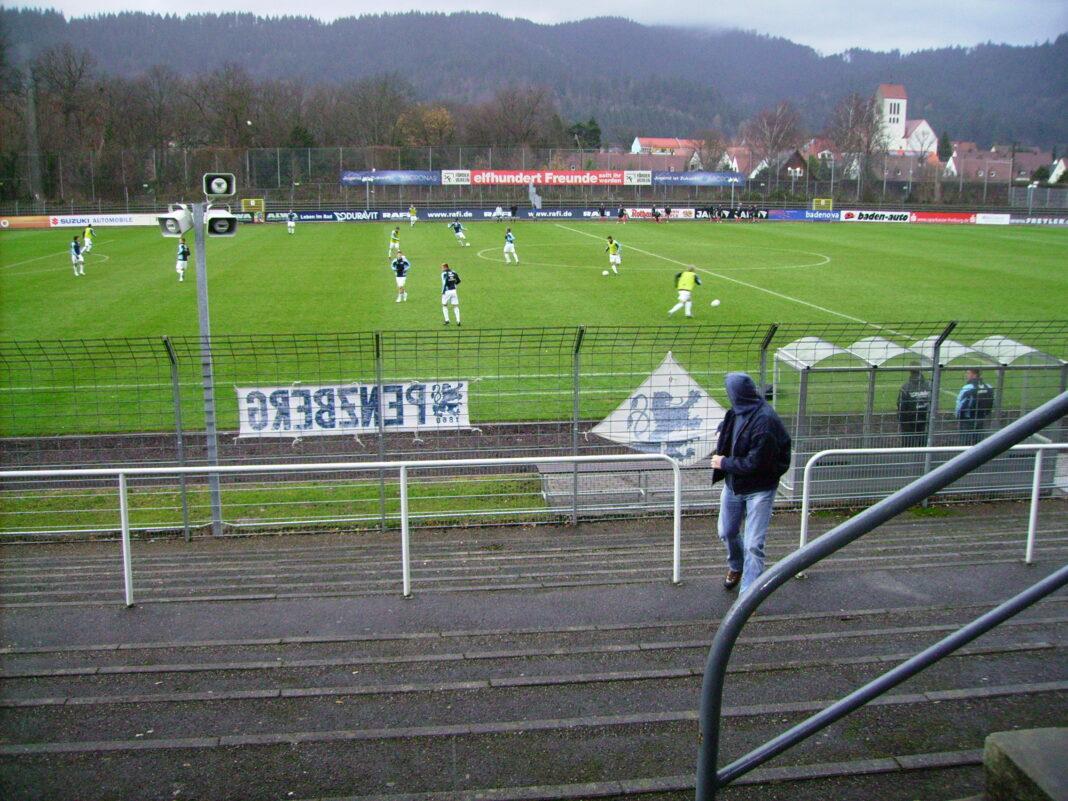 Möslestadion beim Spiel SC Freiburg II gegen den TSV 1860 München II Saison 2008/09