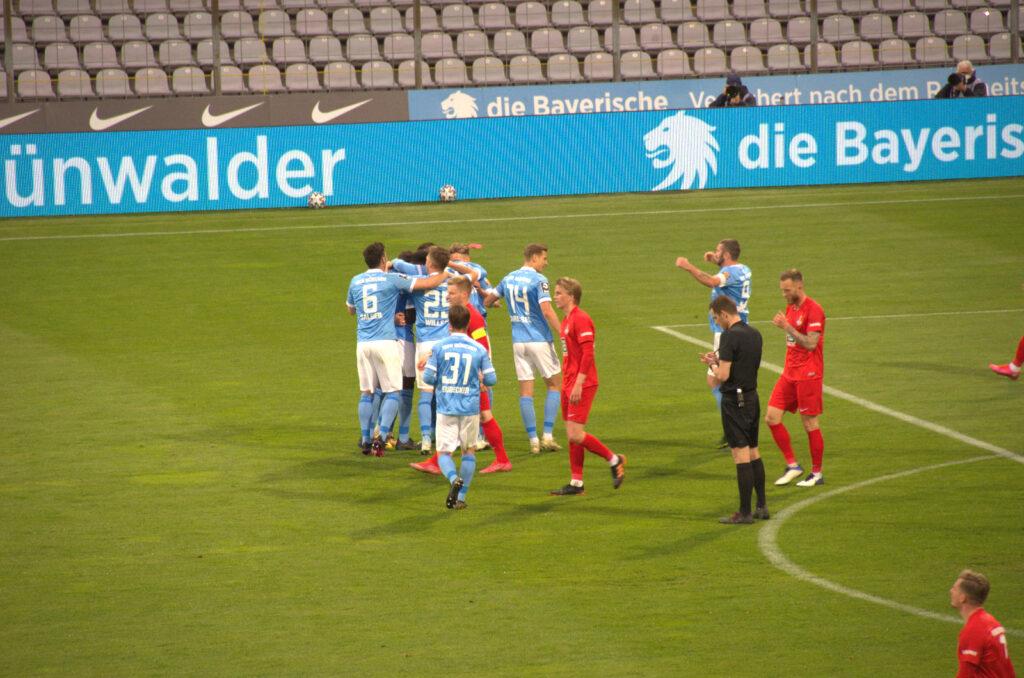 Tor zum 3:0 vom TSV 1860 gegen den 1.FC Kaiserslautern