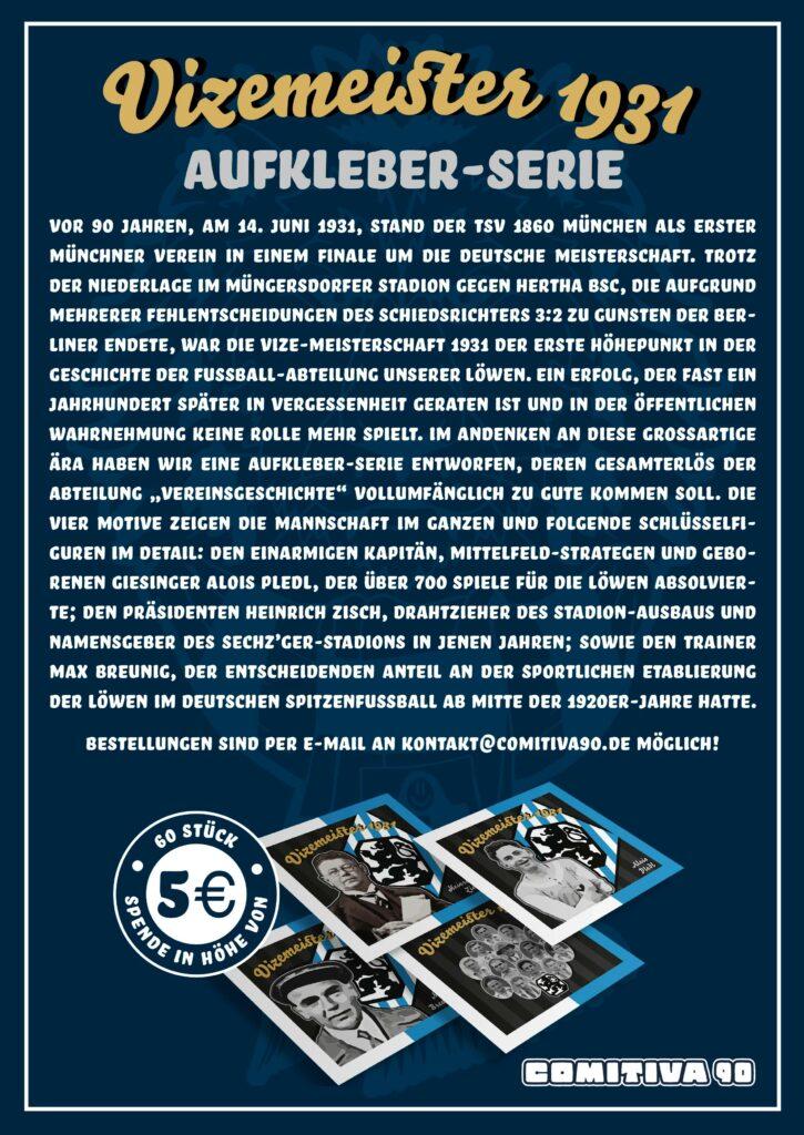 Aufkleber Flyer Comitiva 90 Münchner Löwen Ultras TSV 1860 München