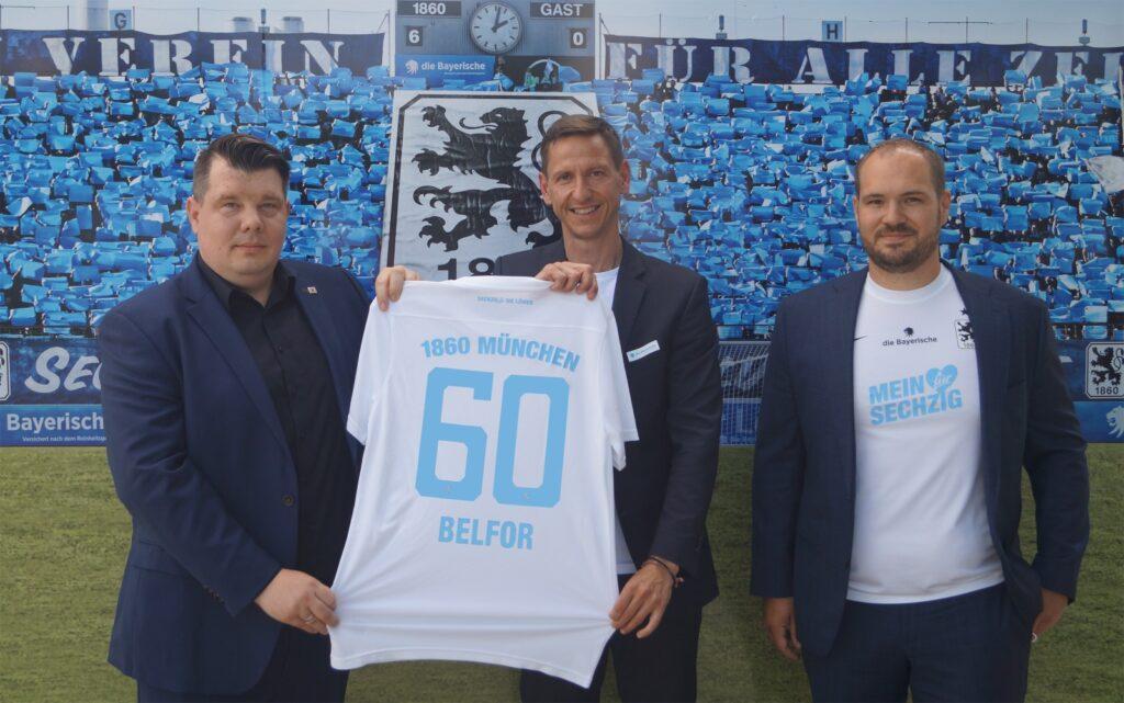 Das Unternehmen Belfor ist neuer LöwenPartner beim TSV 1860 München