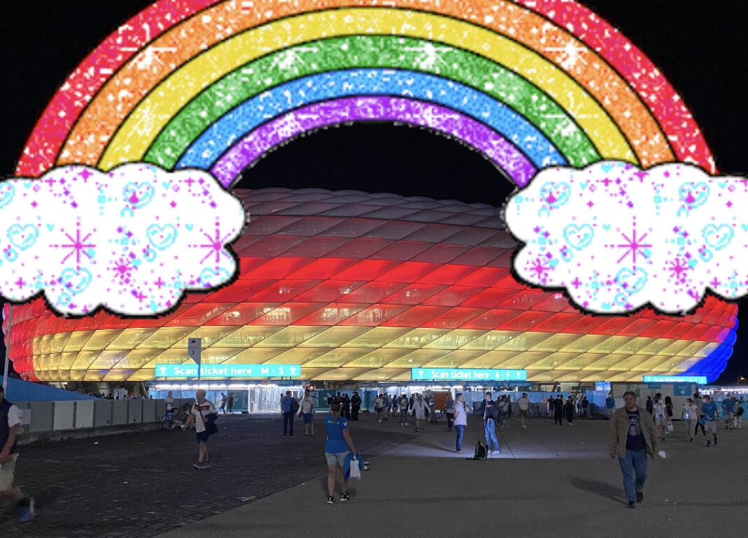 Allianzarena Regenbogen