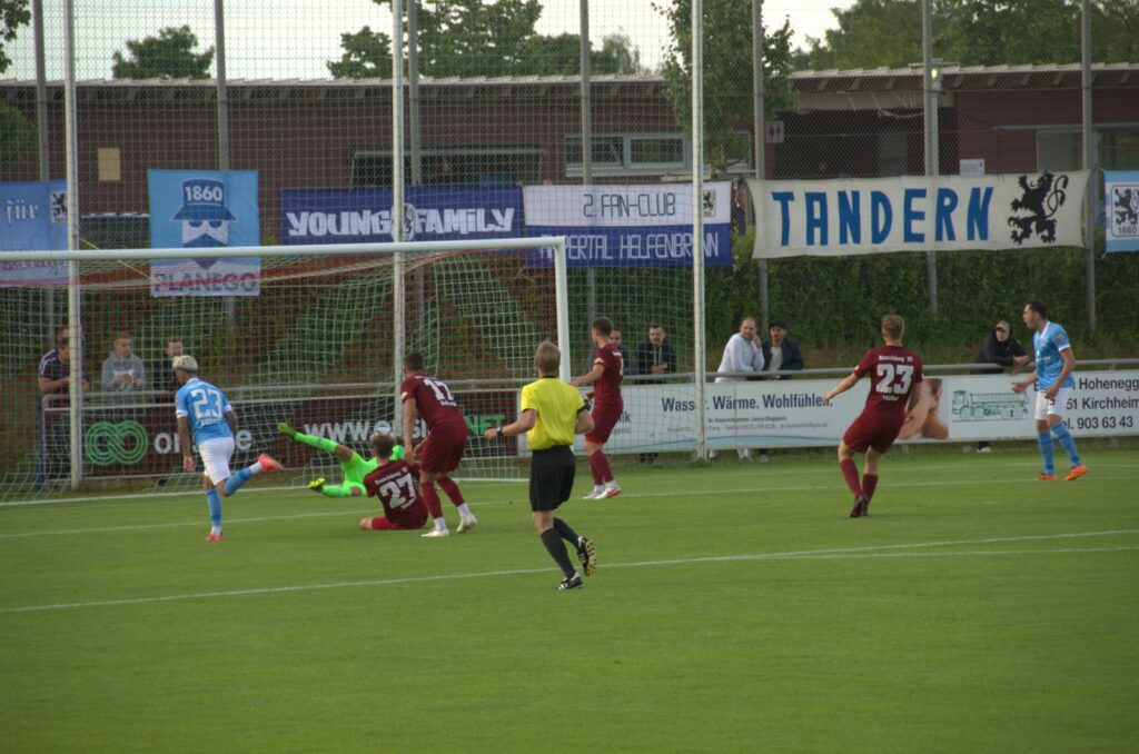 Tor zum 0:2 bei SV Heimstetten - TSV 1860 München, Torschütze Keanu Staude