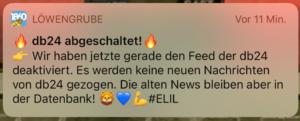 Löwengrube App die blaue24