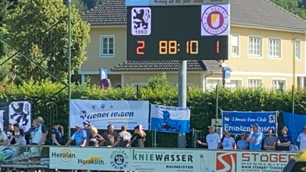 TSV 1860 gewinnt Testspiel gegen Klagenfurt