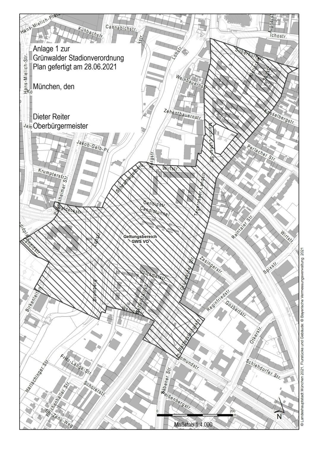 Geltungsbereich Gruenwalder Stadionverordnung