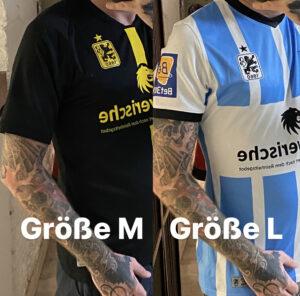 TSV 1860 Trikot, Größenvergleich