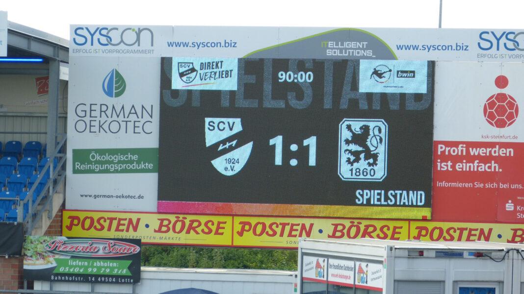 Endstand SC Verl TSV 1860 München 1 1 25.09.2021