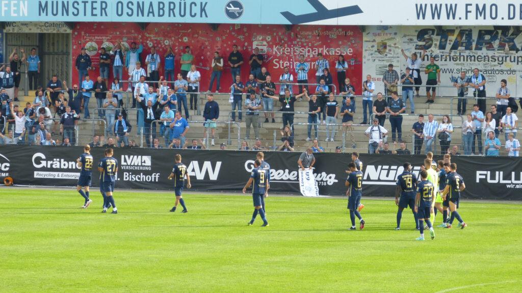 Spieler TSV 1860 München Nach Schlusspfiff Gegen SC Verl