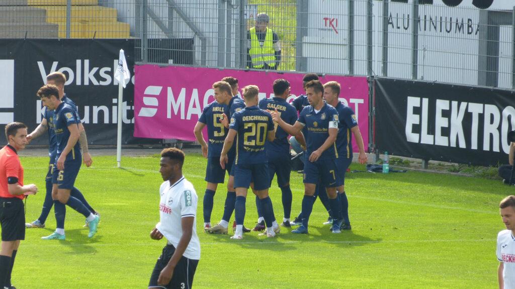 Torjubel TSV 1860 München Gegen SC Verl